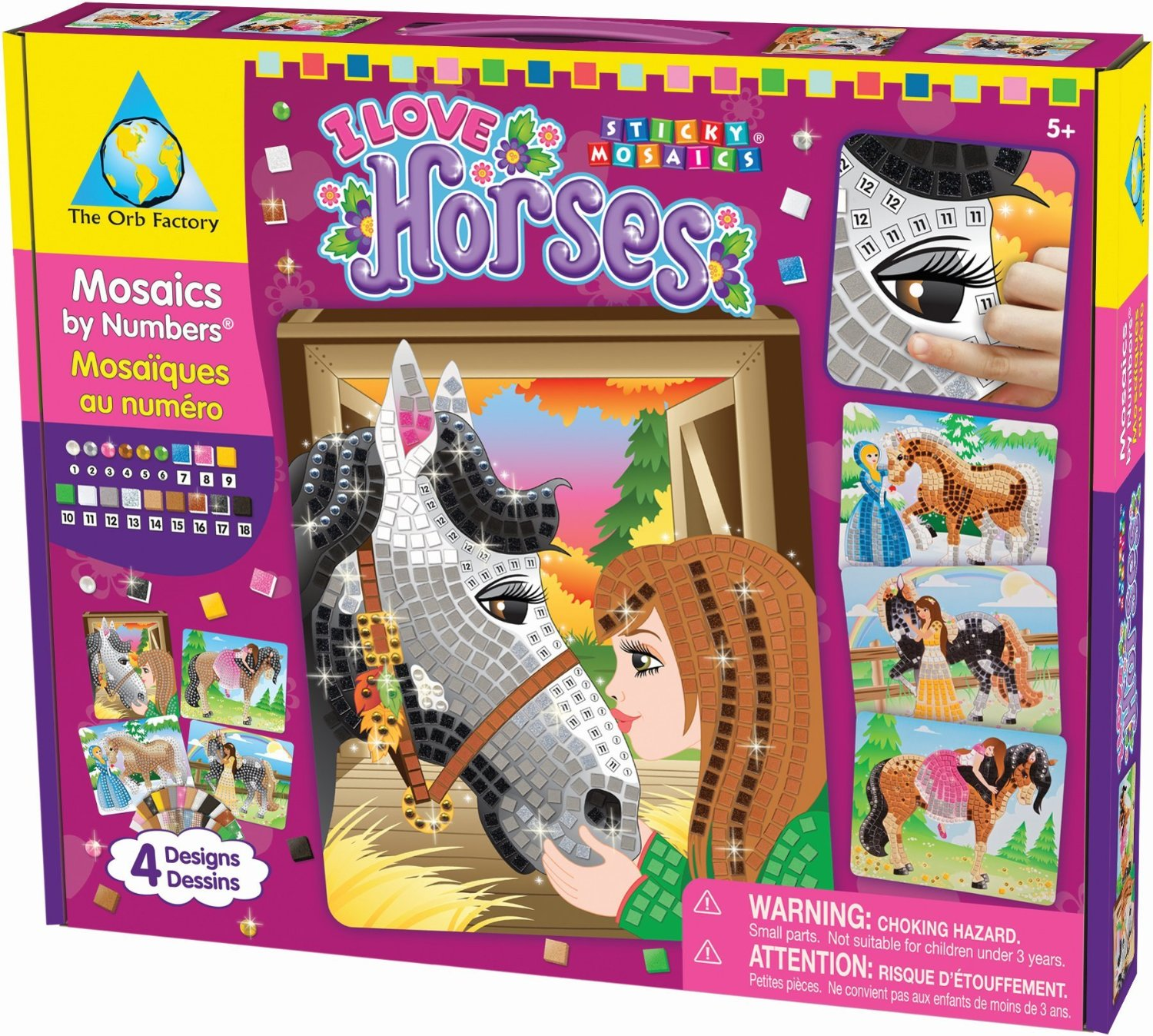 Horse Themed Sticky Mosaics Crafts Project Gifts For Kids
