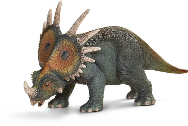 7 Top Quality Toy Figurines At Under $10:  Schleich Styracosaurus Figure