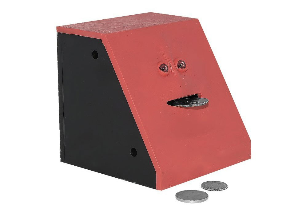 7 Novelty Coin Banks For Kids: The coin bank that devours your money