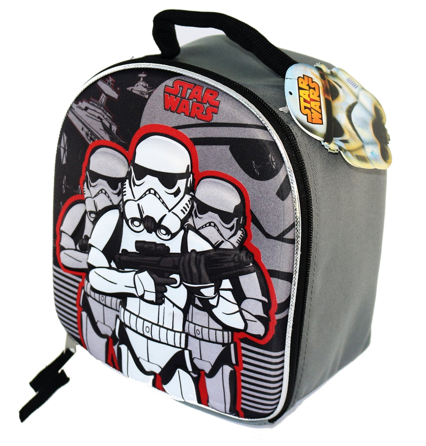 11 stunning Star Wars Lunch Boxes that Kids Will Love: Trooper Dome Shaped Lunch Bag With Molded Front
