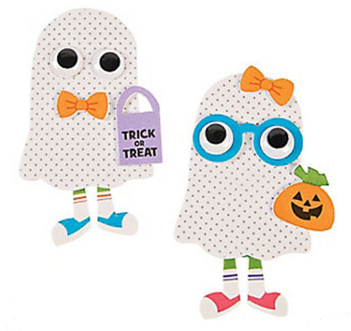 7 Halloween Craft Kits For Kids: Foam Ghost Magnet Craft Kit