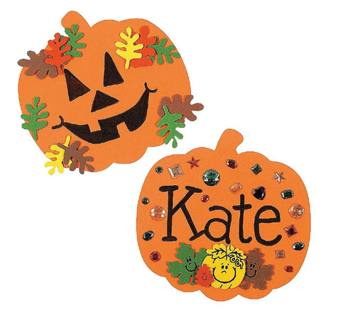 7 Halloween Craft Kits For Kids: Foam Halloween Pumpkins